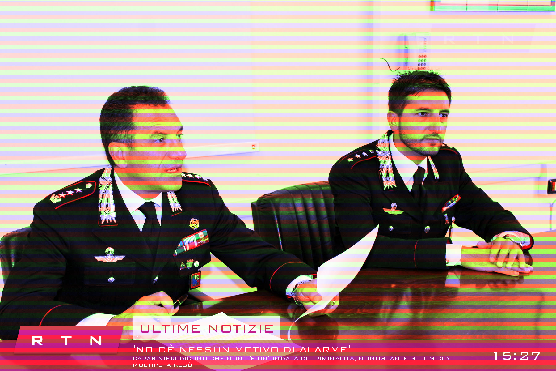 Carabinieri in a press conference