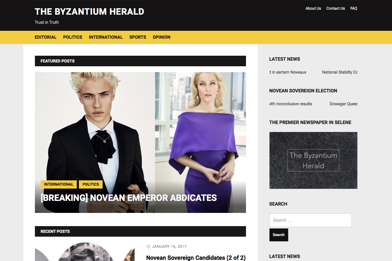 Front of the Herald Site